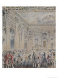 Feast Given by Madame Du Barry for Louis XV on 2nd September 1771 Giclee Print by Jean-Michel Moreau the Younger
