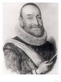 Portrait of Theodore Agrippa D'Aubigne Giclee Print by J. Hebert