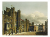 "St. James's Palace, from ""The History of the Royal Residences"" Giclee Print by Charles Wild"