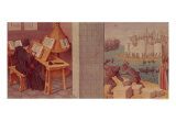 Livy Writing and the Foundation of Rome Giclee Print by Jean Fouquet