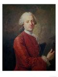 Portrait of Jean Le Rond D'Alembert Giclee Print by Louis M. Tocque