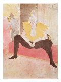 The Clowness Cha-U-Kao Seated, 1896 Lámina giclée por Henri de Toulouse-Lautrec