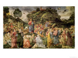 The Sermon on the Mount, from the Sistine Chapel, circa 1481-83 Giclée-tryk af Cosimo Rosselli