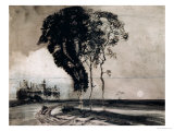Landscape with Three Trees, 1850 Giclee Print by Victor Hugo