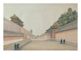 The Imperial Palace in Peking, from a Collection of Chinese Sketches, 1804-06 Reproduction procédé giclée par Ivan Alexandrov
