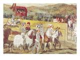 Tournament in Honour of Christian I of Denmark at Castello Di Malpaga Giclee Print by Marcello Fogolino