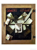 Trompe L&#39;Oeil with Letters and Notebooks, 1665 Giclee Print by Cornelis Norbertus Gysbrechts