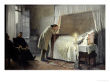 The Death Bed of Madame Bovary, Before 1889 Giclee Print by Albert-Auguste Fourie