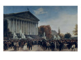The Palais Du Corps Legislatif after the Last Sitting on 4th September 1870 Giclee Print by Jacques Guiaud