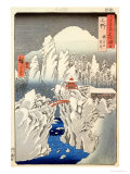 View of Mount Haruna in the Snow, from &quot;Famous Views of the 60 Odd Provinces&quot; Giclee Print by Ando Hiroshige