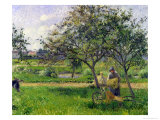 The Wheelbarrow, Orchard, circa 1881 Giclee Print by Camille Pissarro