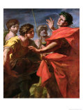 The Head of Pompey Presented to Caesar Giclee Print by Giovanni Antonio Pellegrini