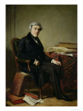 Portrait of Jules Michelet Giclee Print by Thomas Couture