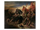 Battle of Tolbiac in Ad 496, 1837 Giclee Print by Ary Scheffer