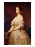 Portrait of Empress Eugenie 1854 Giclee Print by Louis Edouard Dubufe