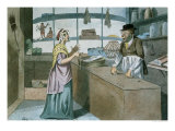 A Touch at the Times, Caricature of the French Blockade, March 1805 Giclee Print