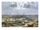 The Port of Bordeaux, 1874 Premium Giclee Print by Eugène Boudin