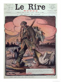 Caricature of a German Soldier, from the Front Cover of &quot;Le Rire Rouge&quot;, 20th March 1915 Giclee Print by Lucien Metivet