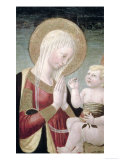 Madonna and Child with Pomegranate Giclée-tryk af Neri Di Bicci
