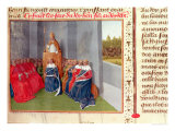 Urban II Preaching the Crusade at Clermont in the Presence of King Philippe I of France in 1095 Giclee Print by Jean Fouquet