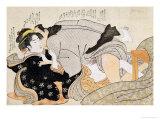 A Shunga Scene Giclee Print by Katsukawa Shunsho