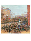 Mass Demonstration in Moscow in 1917, 1917 Giclee Print by Wassily Meshkov