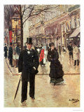 On the Boulevard Giclee Print by Jean Béraud