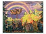 Easter Procession, 1915 Premium Giclee Print by Boris Kustodiyev