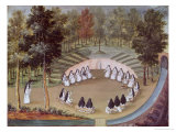 "Nuns Meeting in Solitude, from ""L'Abbaye de Port-Royal"", circa 1710 Giclee Print by Louise-Madeleine Cochin"