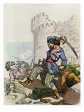"The Chevalier de Gramont, from ""Histoire des Pirates"" by P. Christian, 1852 Giclee Print by Alexandre Debelle"