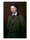 Portrait of Ilya Efimovich Repin, 1876 Giclee Print by Ivan Nikolaevich Kramskoy