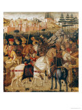 The Triumph of Julius Caesar Giclée-tryk af Paolo Uccello