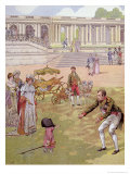Napoleon Playing with the King of Rome Illustration from &quot;Bonaparte&quot; by G. Montorgueil, 1910 Giclee Print by Jacques Onfray De Breville