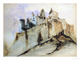 The Chateau of Vianden, 1871 Giclee Print by Victor Hugo