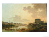 View of the Cotton Factory from the The Motte Sanguin at Orleans, 1825 Giclee Print by Jean Louis Rabigot