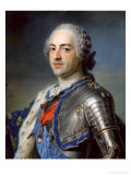 Portrait of King Louis XV 1748 Premium Giclee Print by Maurice Quentin de La Tour