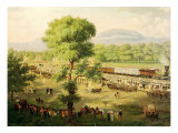 Railway in the Valley of Mexico, 1869 Giclee Print by Luiz Coto