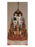 Easter Egg in the Form of the Uspensky Cathedral, Kremlin Reproduction procédé giclée par Carl Faberge