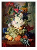 Fruits and Flowers Giclee Print by Jan van Os