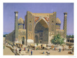 Medrasah Shir-Dhor at Registan Place in Samarkand, 1869-70 Giclee Print by Vasilij Vereshchagin
