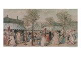The Palais Royal Garden Walk, 1787 Giclee Print by Philibert-Louis Debucourt