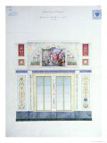 Mural Design for the Hermitage, St. Petersburg, circa 1840 Giclee Print by Leo Von Klenze