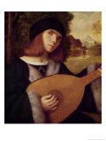The Lute Player Giclée-tryk af Giovanni de Busi Cariani