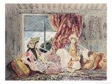 Tripoli, a Harem Giclee Print by Charles Emile Callande de Champmartin