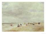 Rhyl Sands Giclee Print by David Cox