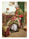 The Old Quilt Giclee Print by Walter Langley