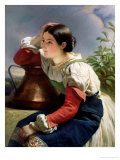 Young Italian at the Well, circa 1833-34 Giclee Print by Franz Xavier Winterhalter