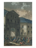 The Pillage of the Saint-Lazare Convent, 13th July 1789 Giclee Print by Jean-francois Janinet