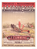 Poster Advertising &quot;La Francaise, Reaper and Mower&quot;, Made by J. Cumming of Orleans, 1876 Giclee Print by Jules Ch&#233;ret