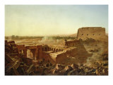 The Battle at the Temple of Karnak: the Egyptian Campaign Giclee Print by Jean Charles Langlois